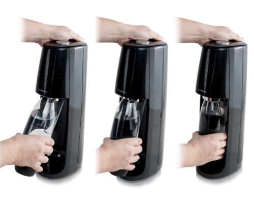 Snap-on verschluss für sodastream easy