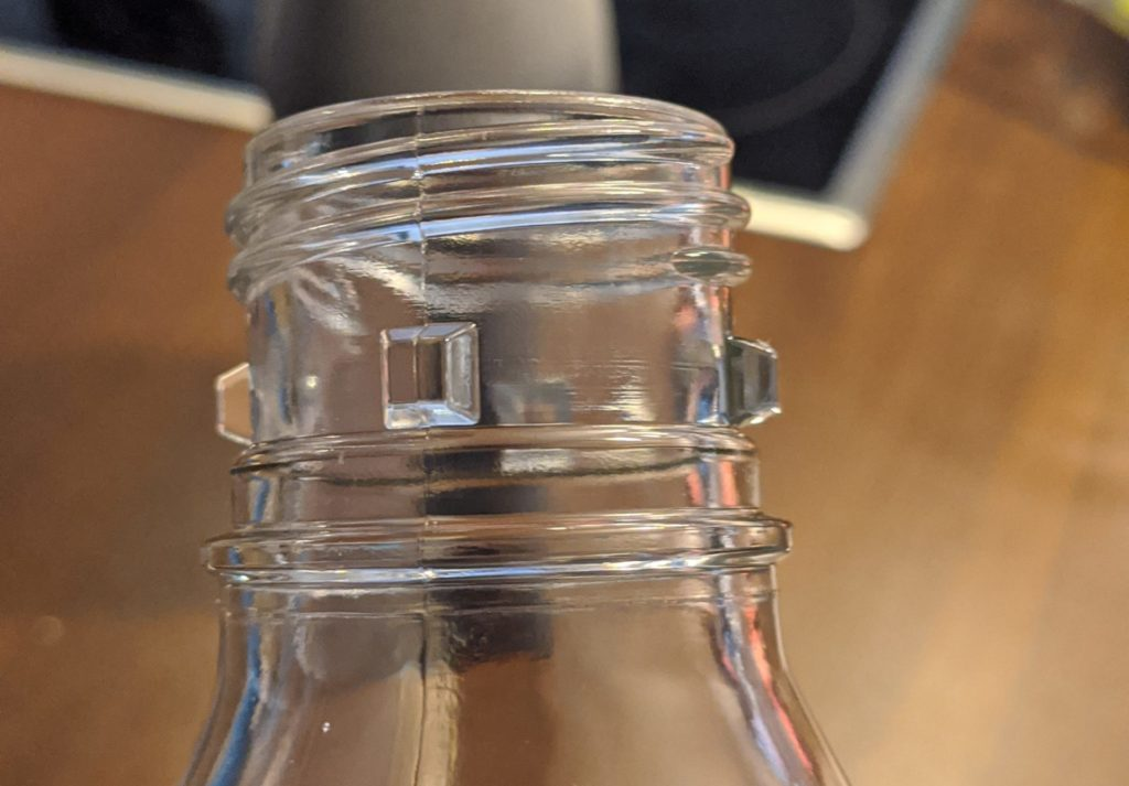 Glasflasche Wassersprudler Bajonettverschluss
