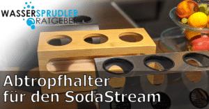 Abtropfhalter für Wassersprudler-Flaschen