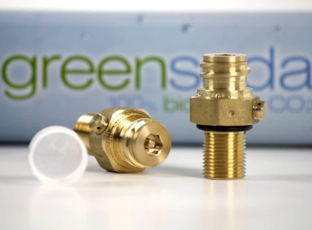 Greensoda Ventil der CO2 Flasche