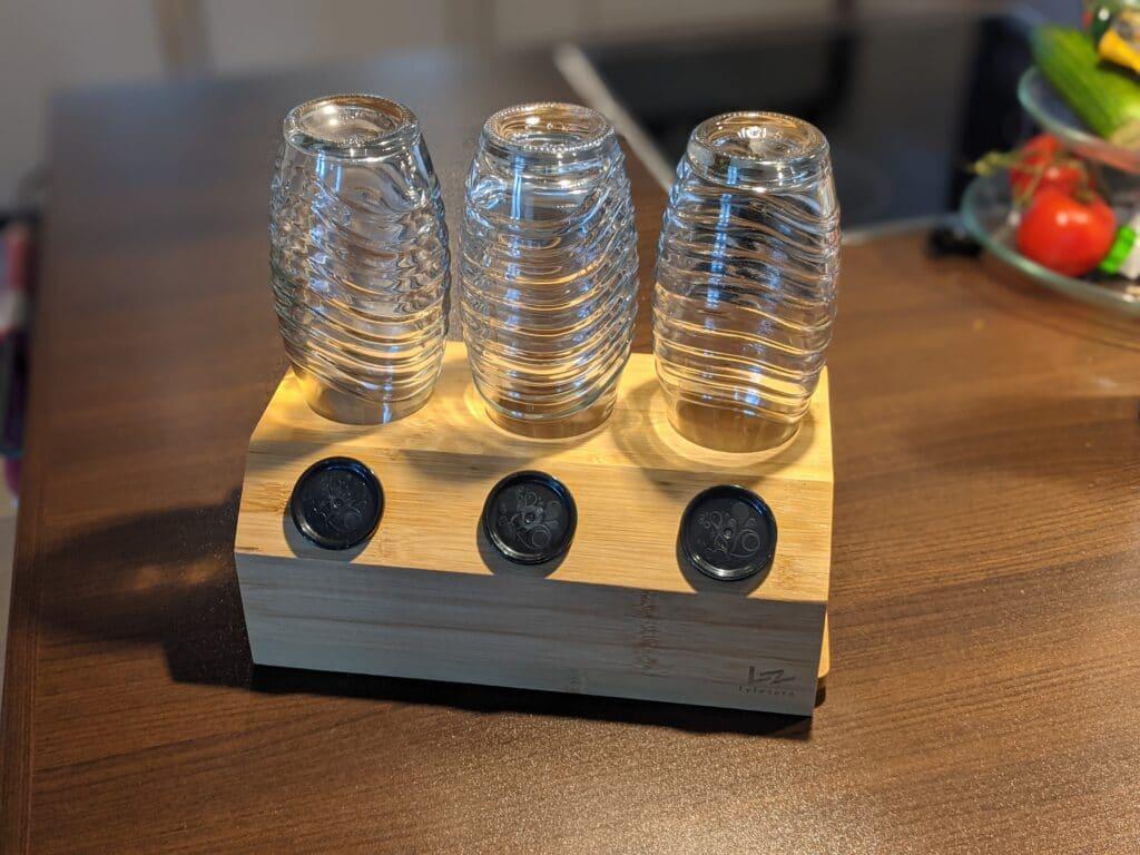 Abtropfhalter aus Bambus für den SodaStream Crystal
